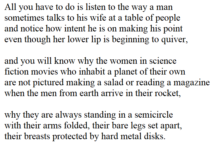 [Man in Space by Billy Collins]
