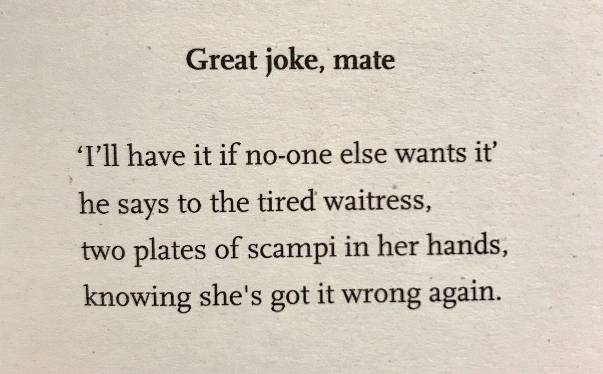 [Great Joke, Mate by John Osborne]