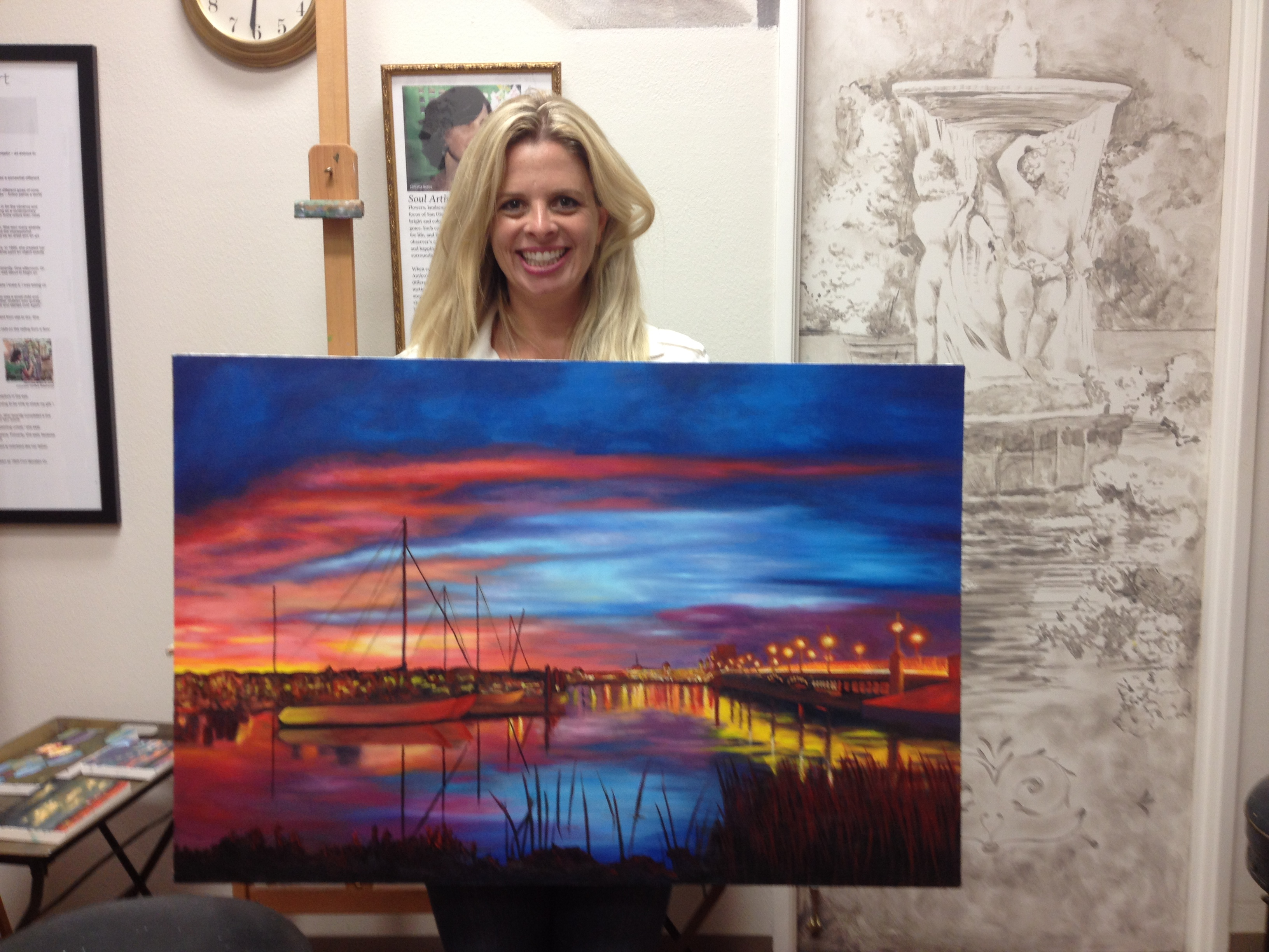 Jen Shows her beautiful painting
