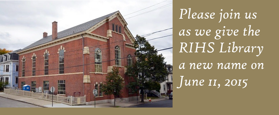 Please join us as we give the RIHS Library a new name on June 11, 2015