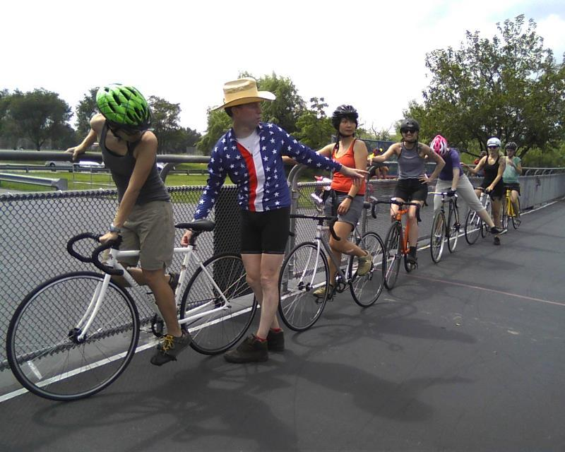 WE Bike NYC at last year's track clinic