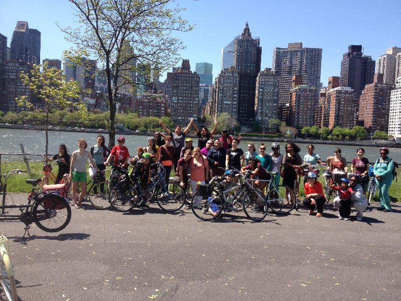 Mother's Day crew on Roosevelt Island