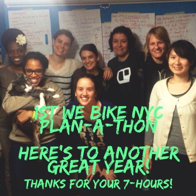 WE Bike NYC Plan-A-Thon 2013!