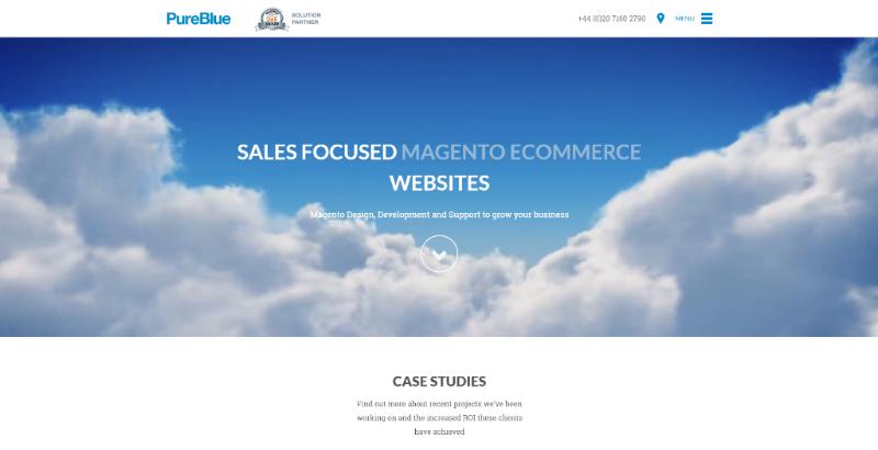 PureBlue homepage