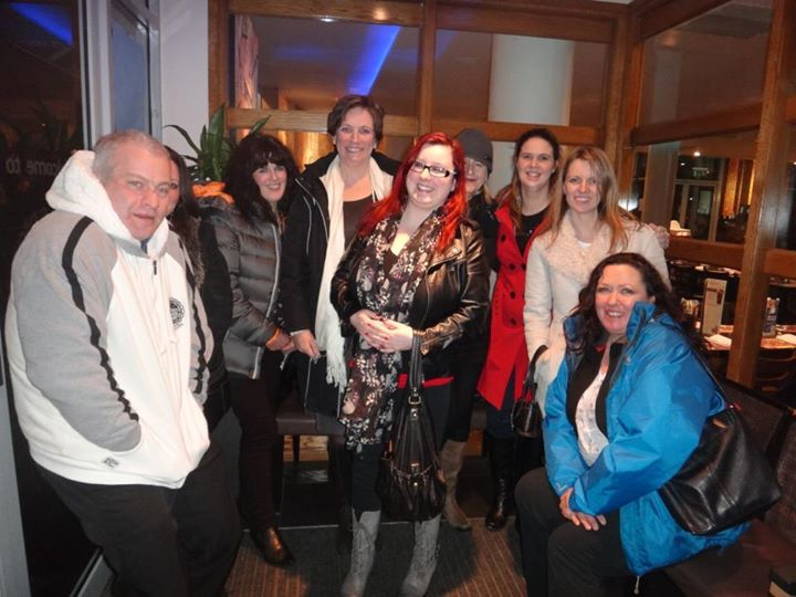 NAIT meet up with Gary and Tracy Gill, Rachel Walker, Louise Gill, Sue Tandy,Thea Palmer, Hayley Bratt Martin, Becky Robinson and Stacy Corke