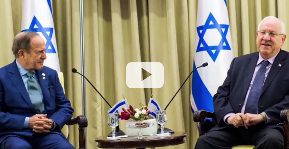 Video of Zuckerman at the residence of the President of Israel