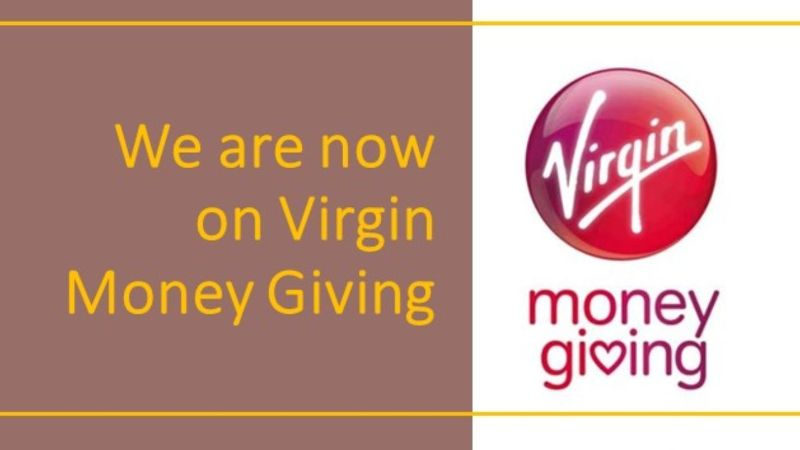 We're now on Virgin Money Giving
