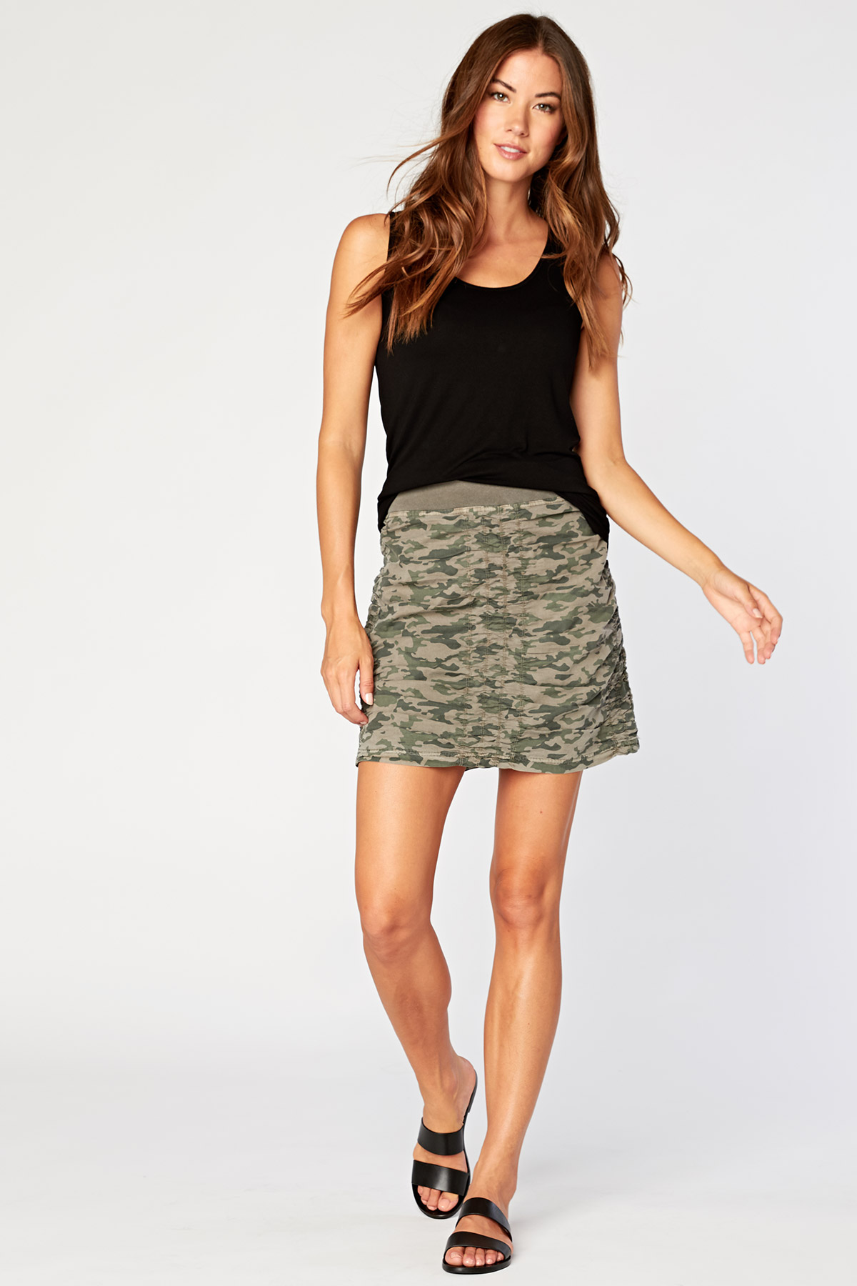 Solid Trace Skirt in Briar Green Camo »