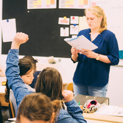 interimleraar in de klas