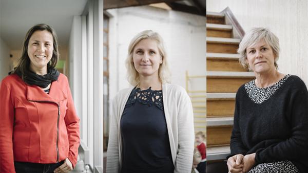 ondersteuners Leen Damman, Riet Boedt en Karen Stallaert