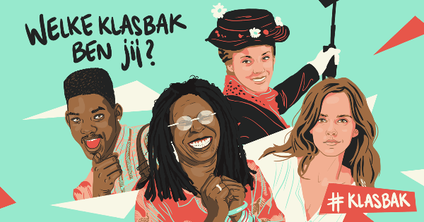 Dag van de leraar - Collage van klasbak: Will Smith, Whoopi Goldberg, Mary Poppins en Emma Watson