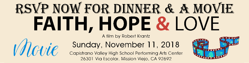 Faith, Hope & Love - Dinner & A Movie