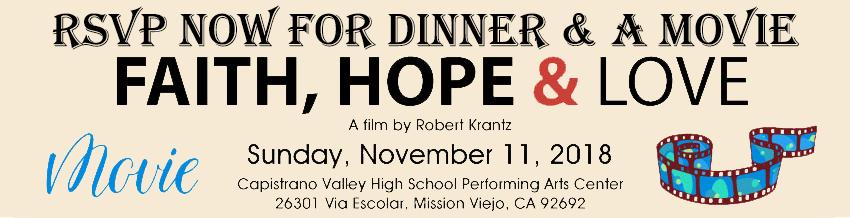 Faith, Hope & Love - Dinner & A Movie