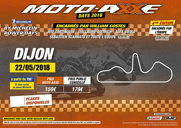 journée de roulage sur le circuit de Dijon