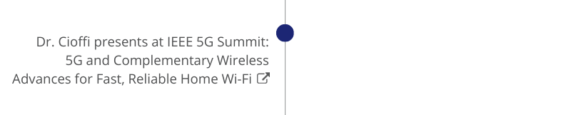 Dr. Cioffi present at IEEE 5G Summit: 5G and Complementary Wireless Advances for Fast, Reliable Home Wi-Fi