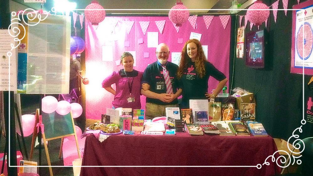 Bec Hannan, Chris Hunt, Amelia Towle, Pink Cross Volunteers