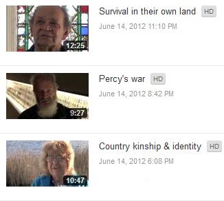 Footprints Education Videos on YouTube, featuring Ossie Cruze (top), Robert Critch (middle) Rita Watkins (bottom)