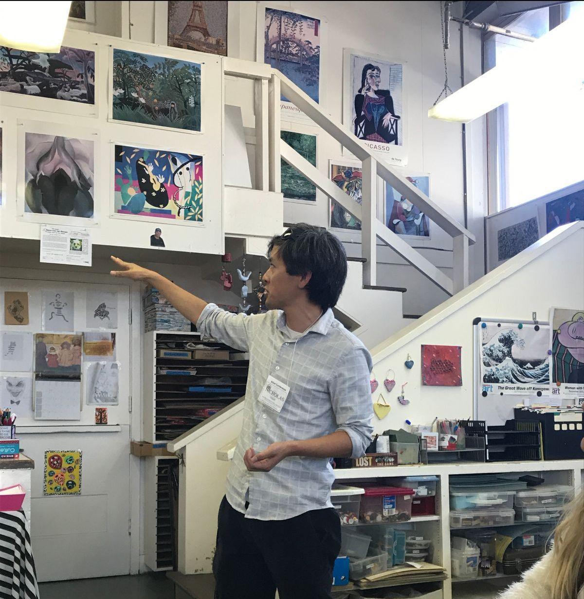 Nick Chan presenting at Asilomar