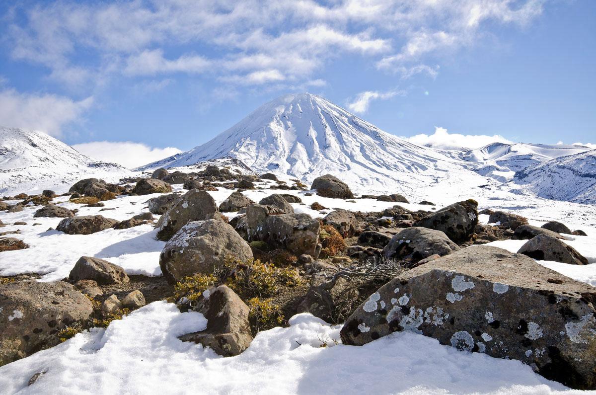 Mount Ngauruhoe in Winter