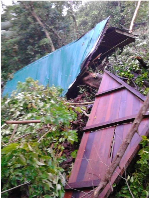 Jungle Bay cottages destroyed!