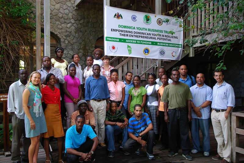 Youth entrepreneurs program when they were safe before the storm