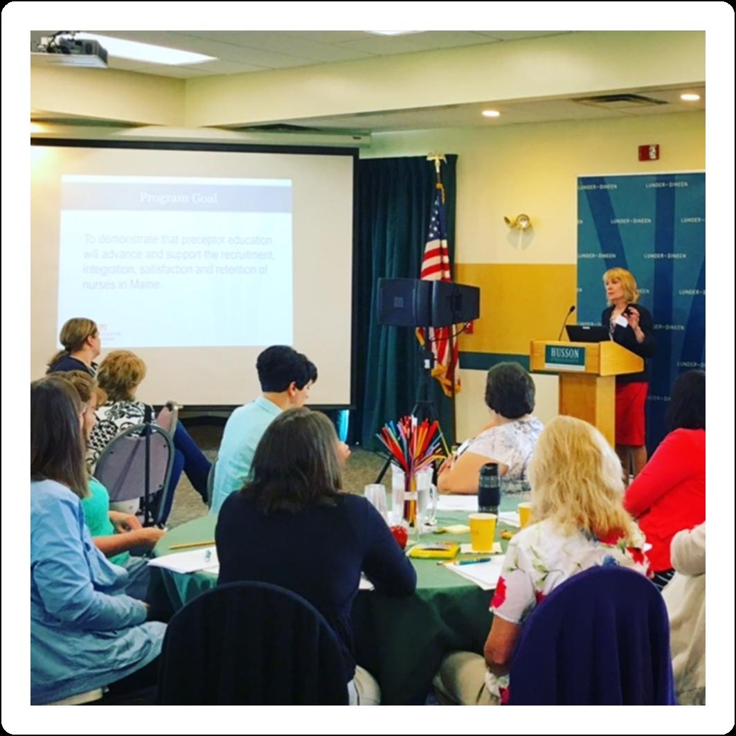 Carole MacKenzie presents at Husson University