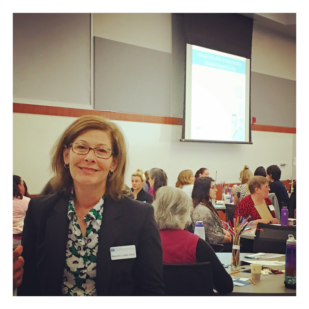 Marjorie Lunder Goldy in attendance at the UNE Nursing Preceptor workshop