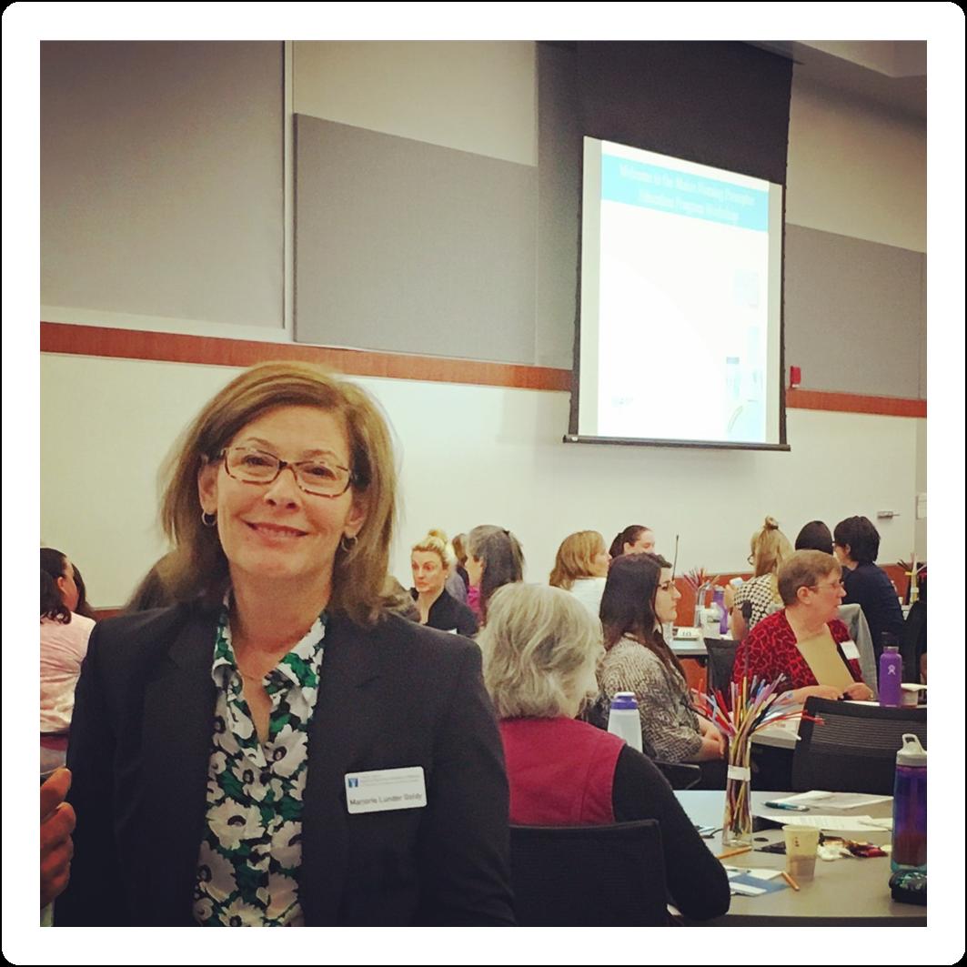 Marjorie Lunder Goldy in attendance at the UNE Nursing Preceptor workshop