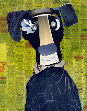 """Poundling 2,"" collage by Janice McDonald."