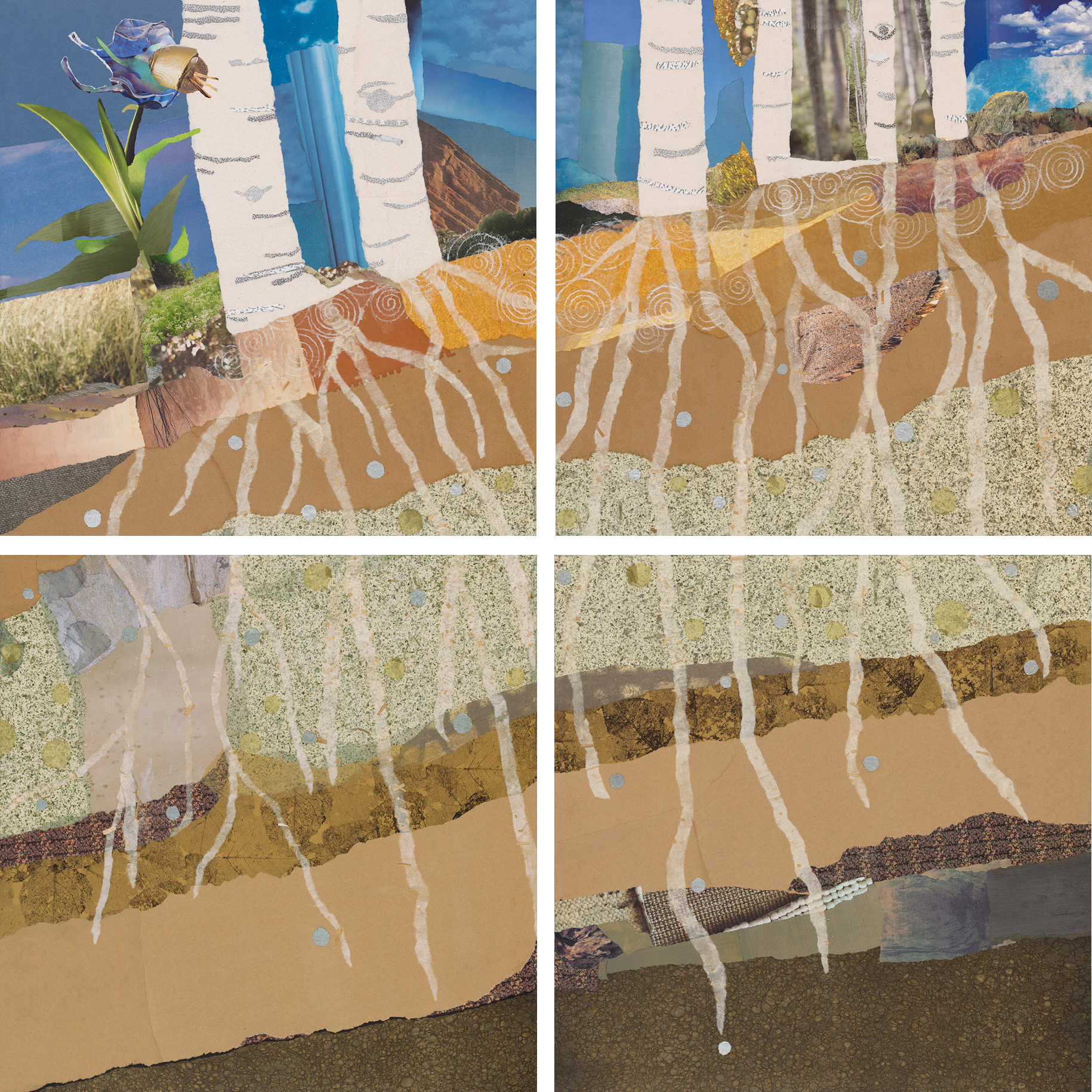 """""""Rooted Together,"""" collage by Janice McDonald"""