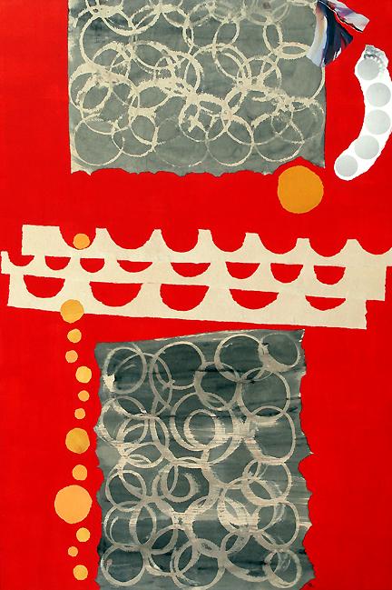 """Replay,"" original collage by Janice McDonald, 2012"