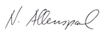 Signatur Norbert Allenspach