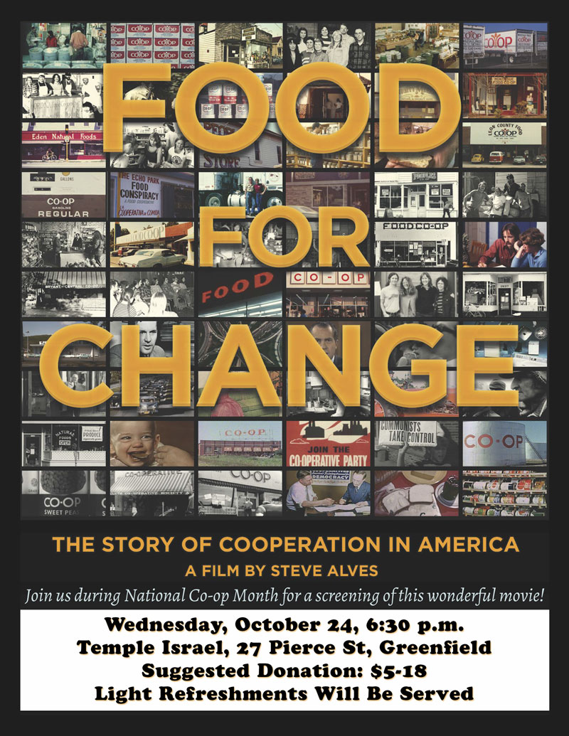 """Flyer for """"Food for Change"""" movie"""