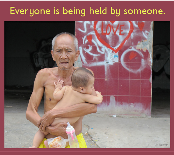 Image: Everyone is being held by someone.