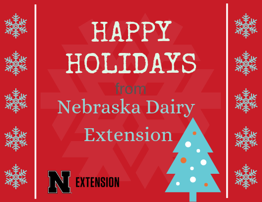 happy holidays from nebraska dairy extension