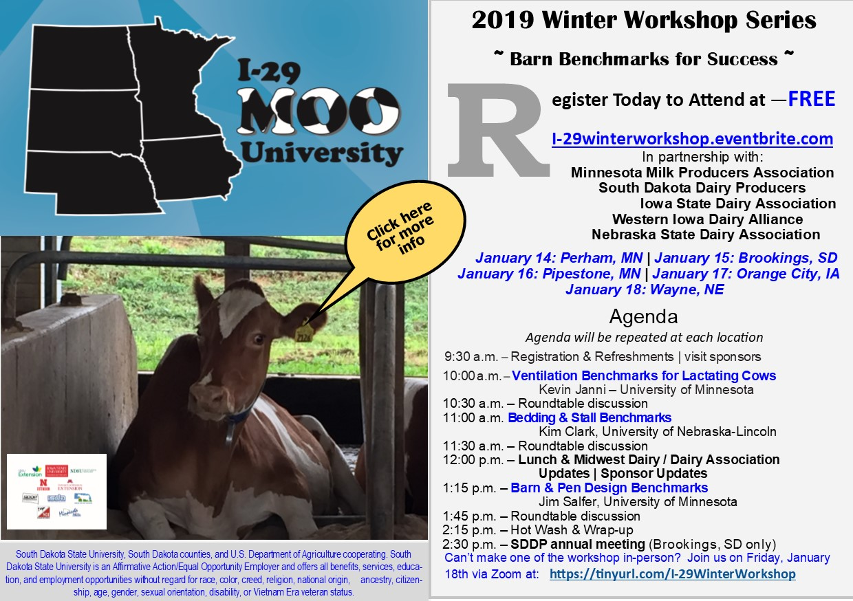 I-29 Moo University winter workshop postcard