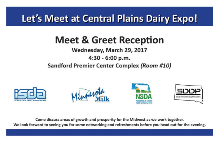 Central Plains Dairy Expo Meet and Greet Reception invitation
