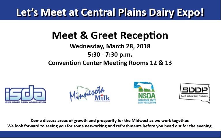 Central Plains Dairy Expo Meet and Greet invitation