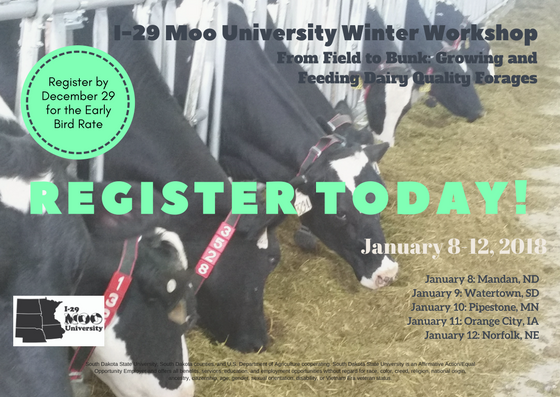 Register today I-29 Moo University Winter Workshop