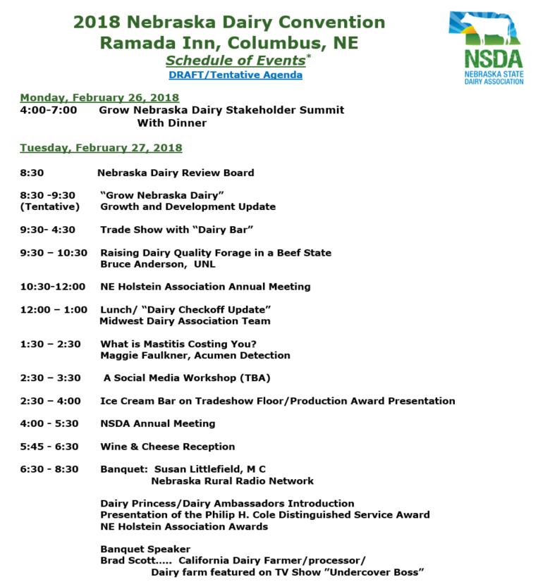 NSDA2018 Convention agenda