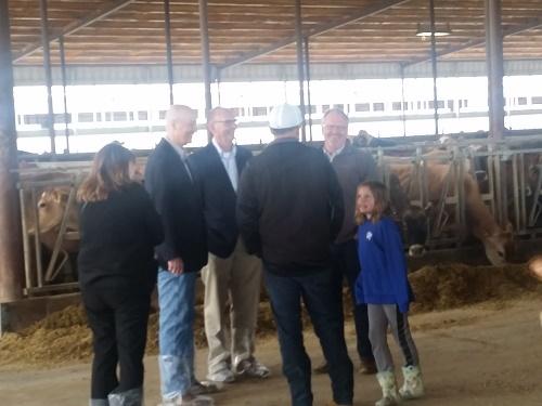 Govenor Ricketts visiting Wakfield Dairy