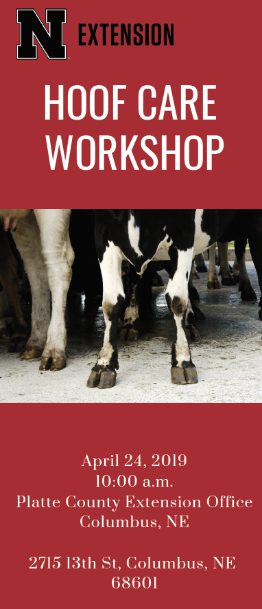 Hoof Care Workshop April 24, 2019 flyer