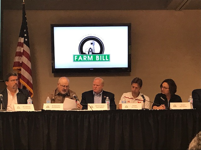 Jim Eschliman -second from the left - testifies at Farm Bill hearing at the Nebraska State Fair