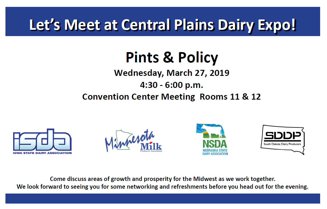 Midwest Dairy Invite for Central Plains Dairy Expo March 27, 2019