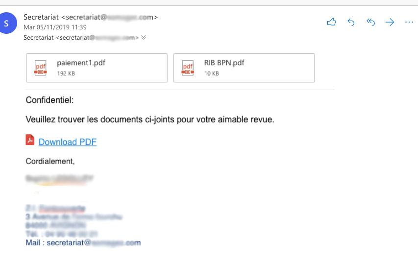 exemple de phishing office365