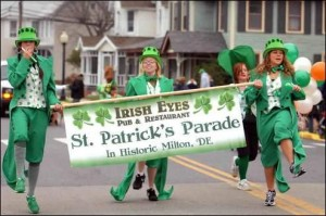 St. Patrick's Parade in Milton