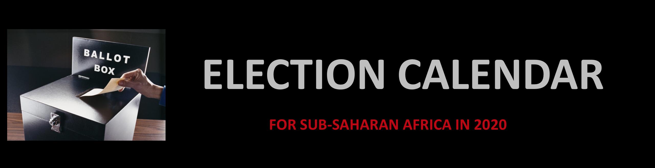 Election Calendar 2020