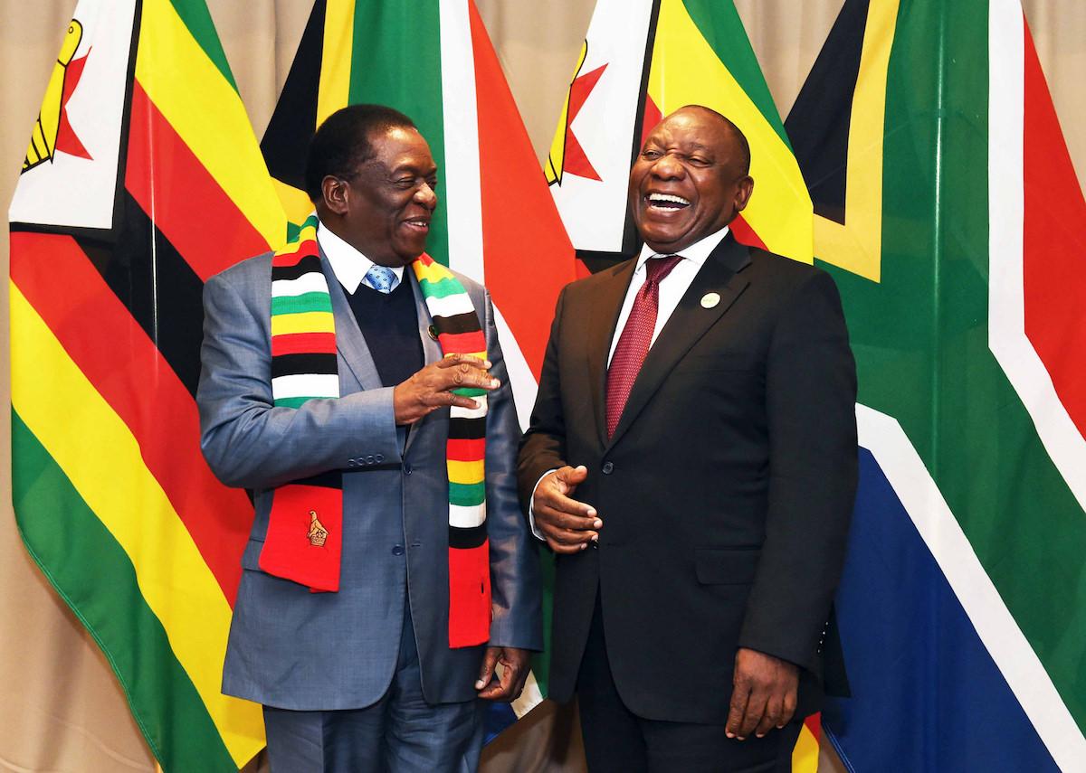 Ramaphosa & Mnangagwa at BRICS 2018