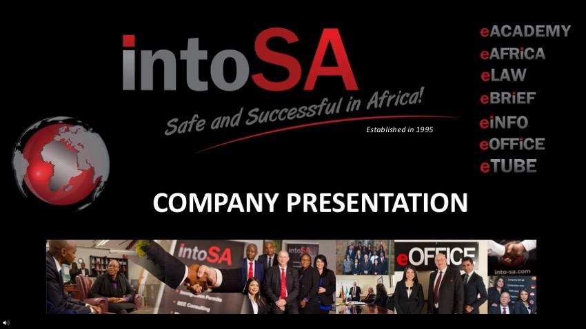 Into SA Company Presentation on eTUBE