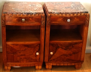 Pair of Art Deco French bedside tables